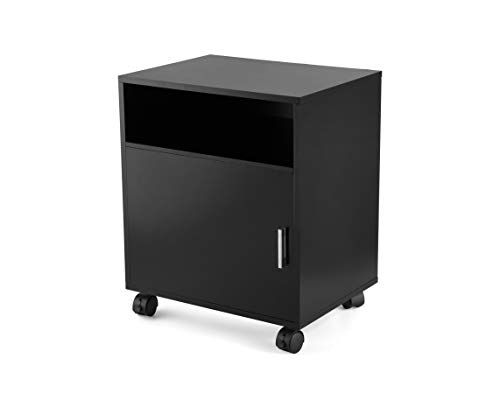 Julie-Home Wood Printer Fax Stand Organizing Cart End Table with Wheels for Home ()