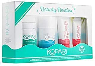 Kopari Beauty Besties - 4 Pack Includes 2.5 oz Coconut Melt.9 oz Aluminum Free Deodorant, 1oz Face Cream.35 oz Lip Glossy