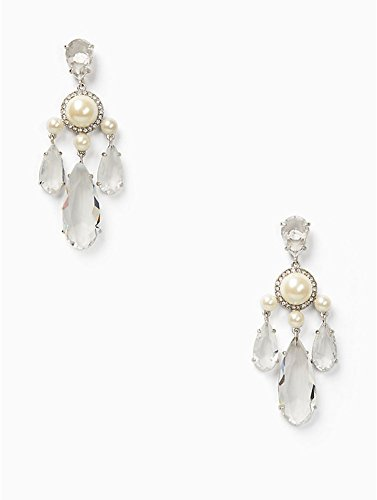 (Kate Spade New York Glitz and Glam Chandelier Earrings - Cream/Silver)