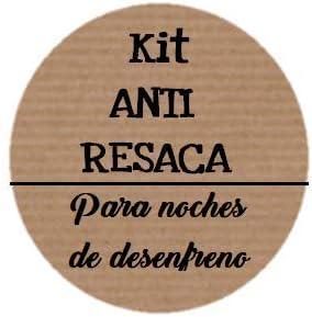 Etiquetas adhesivas kraft KIT ANTI RESACA para noches de desenfreno