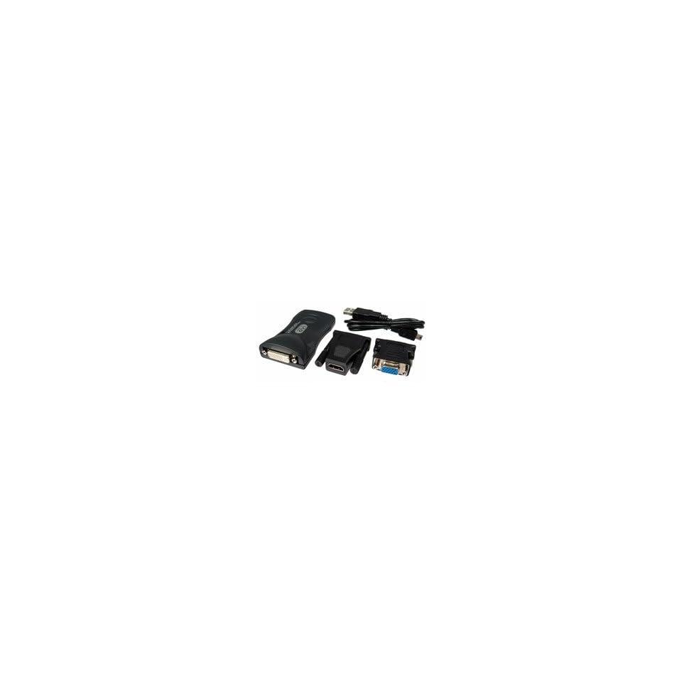 Cables Unlimited USB2 TO DVI VGA HDMI ADAPTER UPTO 6 MONITORS TO ON USB 2 DVI VGA HDMI ADPTR (Computer / Graphics Cards)