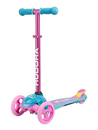 Adjustable Height Rear Friction Brake Scooter Stable Hudora 3 Wheel Scooter for Ages 2-6 Boys /& Girls