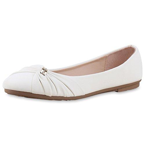 napoli-fashion - Bailarinas Mujer oro blanco
