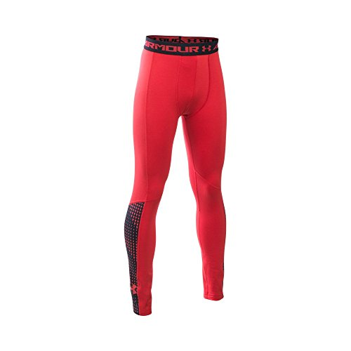 Under Armour Boys' ColdGear Armour Up Leggings, Red (600), Youth (Kids Coldgear Leggings)