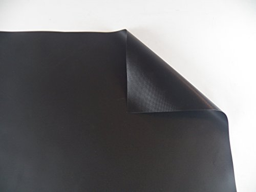 Vinyl Pond Liner 20 oz. 22 mil Heavy Duty Black Tarp (10' x 25')
