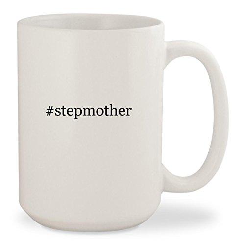 #stepmother - White Hashtag 15oz Ceramic Coffee Mug (Cinderella Evil Stepmother Costume)