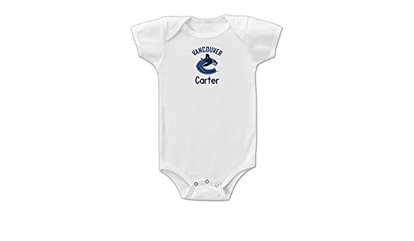 707a7905c Amazon.com: Designs by Chad and Jake Personalized Vancouver Canucks Onesie  6-12 months: Baby