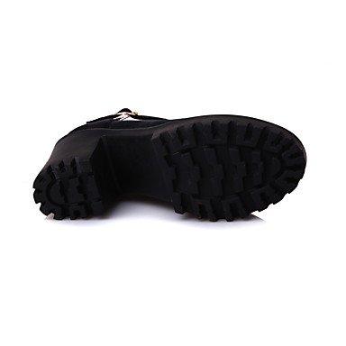 Le donne sexy elegante sandali donna tacchi Primavera Estate Autunno Inverno scarpe Club vello Office & Carriera Party & abito da sera Chunky fibbia tacco nero rosa verde , nero , noi6.5-7 / EU37 / uk