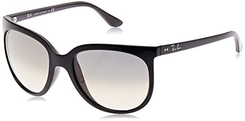 2009 Designer Sunglasses - Ray-Ban RB4126 Cats 1000 Cat Eye Sunglasses, Black/Grey Gradient, 57 mm