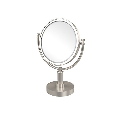 Allied Brass DM-4/5X-SN 8-Inch Table Mirror with 3x Magnification, 15-Inch, Satin Nickel ()