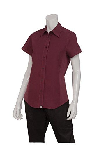 Chef Works Mens Universal Shirt, Merlot, 2X-Large