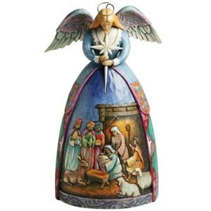 Enesco Jim Shore Heartwood Creek Angel Nativity Gown Musical - Angel Gown Nativity