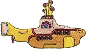 """The BEATLES YELLOW SUBMARINE Embroidered Patch Badge Iron Sew On Applique 3/"""""""
