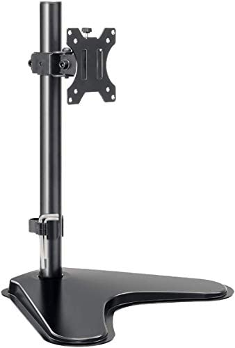 MOUNTUP Single Monitor Stands - Free Standing VESA Monitor Desk Mount suits 13 to 32 inch Computer Screen with Height Adjustable, Swivel, Tilt, Rotation, VESA 75x75 100x100 MU0023