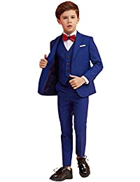 Iyan Boys Suits 5 Piece Wedding Slim Fit Suit for Boys