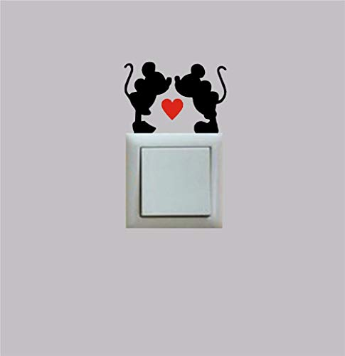 Mickey and Minnie Inspired Love Heart Novelty Sticker Decal