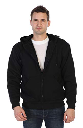 - Gioberti Men and Women Sherpa Lined Fleece Hoodie Jacket, Black B, XX Large