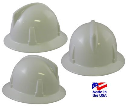 MSA 475393 Topgard Non-Slotted Protective Hat with Fas-Trac Suspension Standard White