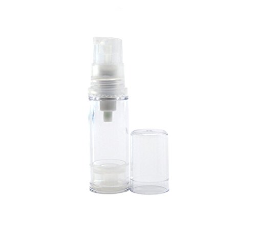 TOPWEL 5ml Empty Clear Refillable Airless Vacuum Pump Cream Lotion Bottle (3PCS)