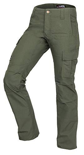 (LA Police Gear Women's Mechanical Stretch Ops Tactical Cargo Pants - OD Green-24-SHORT)