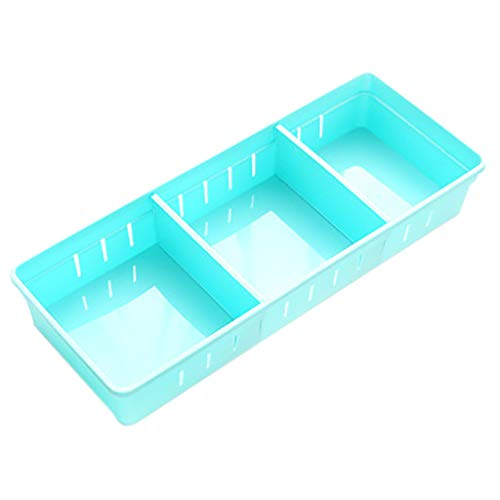 Storage Box, House Storage, Miscellaneous Sorting Drawer Storage Box, Rendodon Home Kitchen Board Divider Adjustable Storage Box Drawer Organizer Box (Blue)