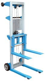 Beacon-Hand-Winch-Lift-Trucks-Fork-Over-Design-Capacity-500-Lowered-Height-3-12-Raised-Height-47-67-Overall-Size-W-x-L-x-H-24-x-35-x-68-Net-Wt-lbs-136-Model-BA-LIFT-R