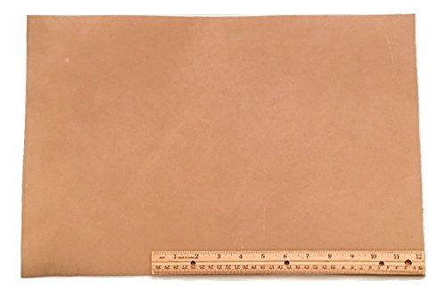 Light Brown Leather Finish (Scrap Leather Piece, Medium Weight Boot Leather; Light Brown Desert Sand Cowhide 18