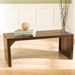 Slat Bench/Table in Espresso