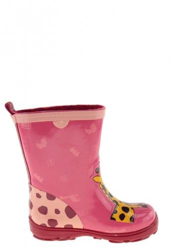AJS Naturkautschukstiefel, Safari Giraffe Pink
