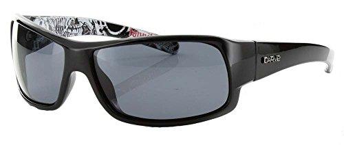 (CARVE Eyewear Sunglasses Sonny Black Signature Polarized Grey)