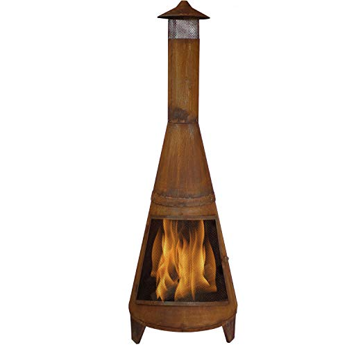 chiminea clay outdoor fireplace - 9