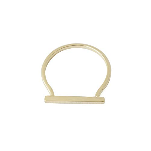 Ring Gold Plate - HONEYCAT Long Bar Ring in 24k Gold Plate | Minimalist, Delicate Jewelry (Gold, 5)