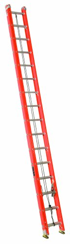 Louisville Ladder FE3232-E03 Fiberglass Extension Ladder with Cable Hook and V-Rung Attached, 32 Feet, 300 Pound Duty Rating