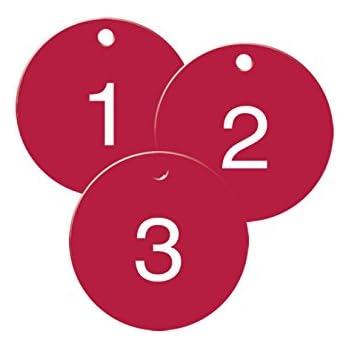 Amazon.com : Numbered Plastic Circle Tags - Black - Pack ...