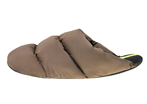 Mens Womens Winter Indoor Slippers Soft Thick Thermal Quilted Down Bedroom Slippers Waterproof Warm Fleece Lined Mules Anti-skid Slip-on Scuff Shoes Lightweight Snow Ankle Boots Booties Coffee hnwGR5Tq