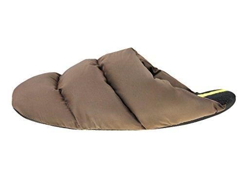 Mens Womens Morbido Caldo Accogliente Trapuntato Pantofole Pantofole Muli Comfort Antiscivolo Slip-on Stivaletti Invernali Calzature Leggero Impermeabile Casa Casa Pantofole Interni Scarpe Caffè