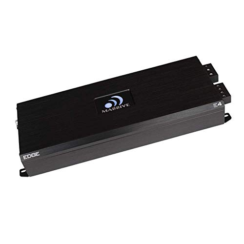 - Massive Audio E4 - Car Audio 4,000 Watt Nano Edge Series, Monoblock Car Amplifier, Bass Boost, 1 Ohm Stable