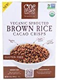 One Degree Organic Foods Sprouted Brown Rice Cacao Crisp, 10 Ounce -- 6 per case. by One Degree Organic Foods