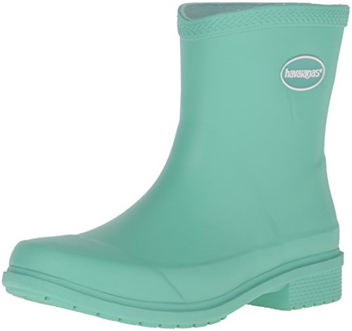 Havaianas Women's Galochas Low Matte Rainboot Rain Boot, Light Green, 37 BR/7 M - Havaianas Boots