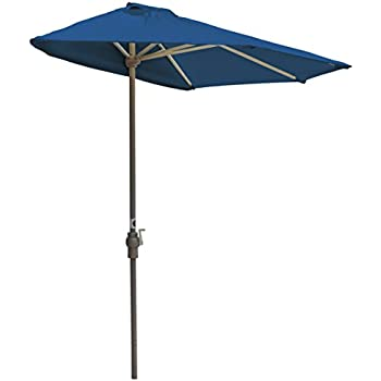Blue Star Group Off-The-Wall Brella Olefin Half Umbrella, 9'-Width, Blue