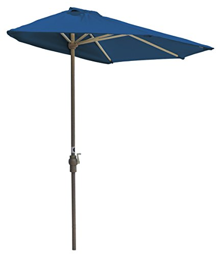 Blue Star Group Off The Wall Brella Olefin Half Umbrella  9 Width  Blue