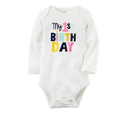 1st Collectible (Carter's Baby Girls' My 1st Birthday Collectible Bodysuit 9 Months)
