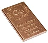 Half Pound Copper Bar Bullion Paperweight with