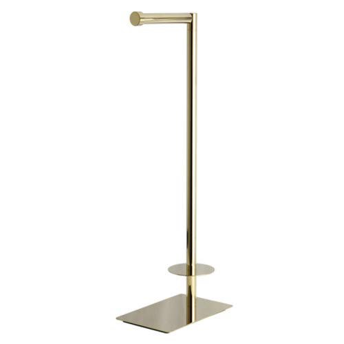 Modern Freestanding Toilet Paper Stand in Polished Brass - Toilet Paper Stand Brass