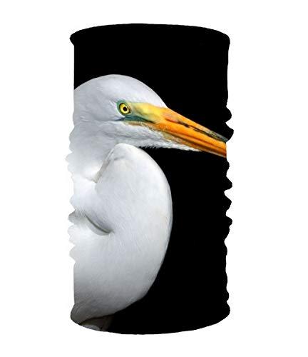Women's Headbands Elastic Turban Head Wrap Animal Egret Birds Egrets Hair Band