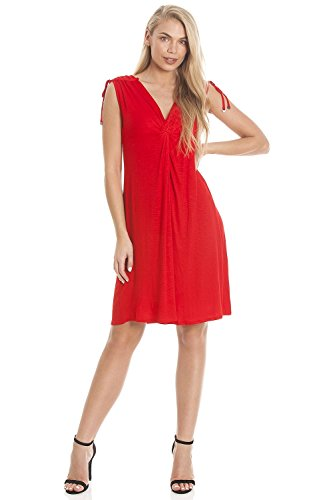 Knee Beach Red Ladies Red Street 16 High Ex Camille Length Dress O0qXUn