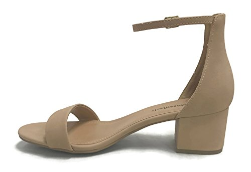 City Women's Sandals Natural Toe Heeled Classified Open Strap Ankle Block r5przw8n