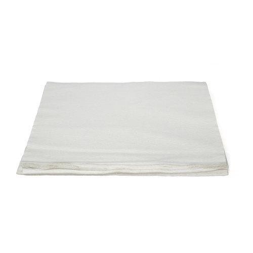 (TaskBrand N-LRVDFBW White Light Duty DRC Material Hospeco Linen Replacement Napkin, Topline Series, 16