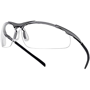 this item boll bolle safety glasses contour clear metal frame