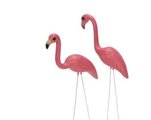Pink Inc. 263/1 Salmon Pink Flamingos, Pair of -